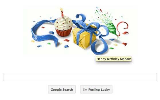 نمایش پست :آیا می دانستید روز تولدتان را گوگل تبریک می گوید؟